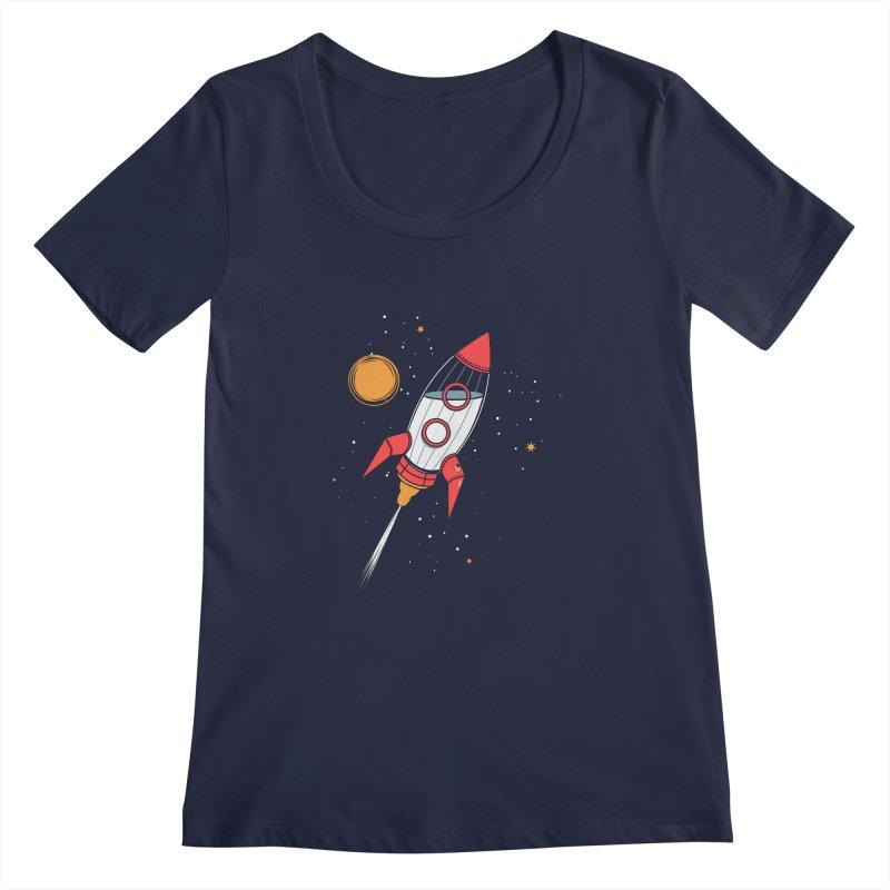 Bottle Rocket Women's Scoopneck by Ryder Doty Shop