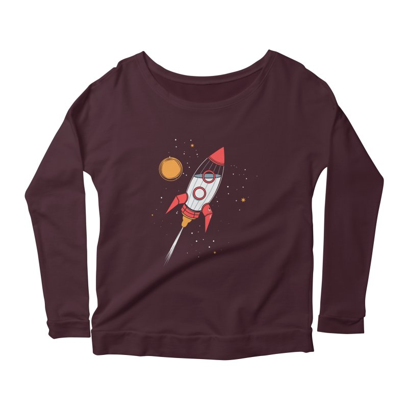 Bottle Rocket Women's Scoop Neck Longsleeve T-Shirt by Ryder Doty Shop