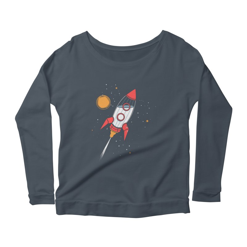Bottle Rocket Women's Scoop Neck Longsleeve T-Shirt by Ryder Doty Shop