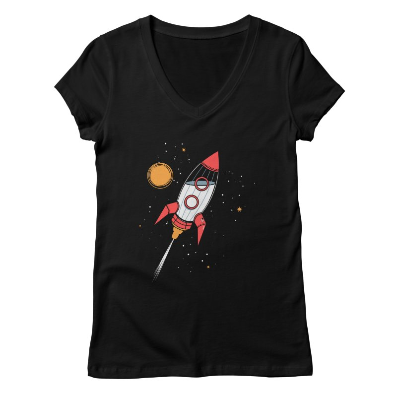 Bottle Rocket Women's Regular V-Neck by Ryder Doty Shop