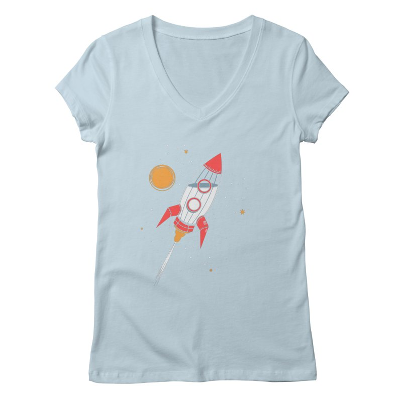 Bottle Rocket Women's V-Neck by Ryder Doty Shop