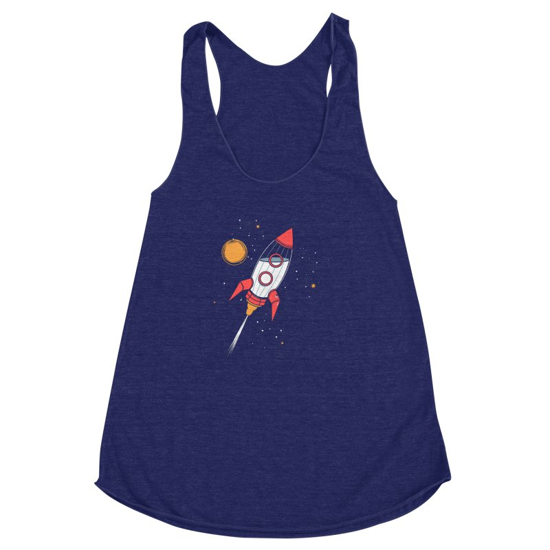 Bottle Rocket Women's Racerback Triblend Tank by Ryder Doty Shop