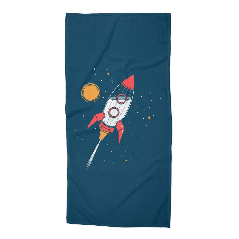 Bottle Rocket Accessories Beach Towel by Ryder Doty Shop