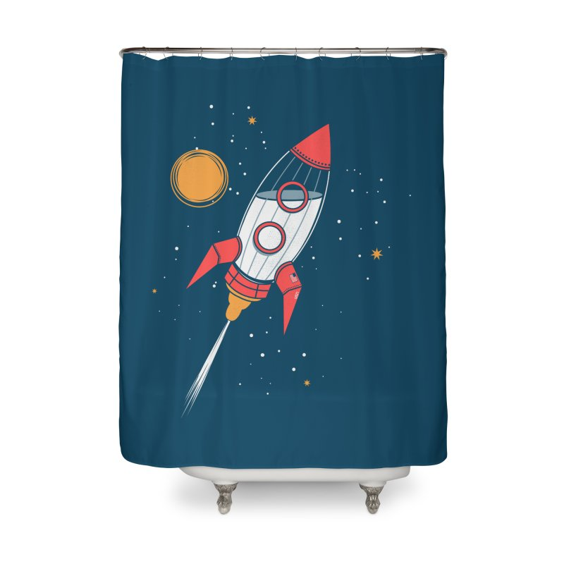 Bottle Rocket Home Shower Curtain by Ryder Doty Shop
