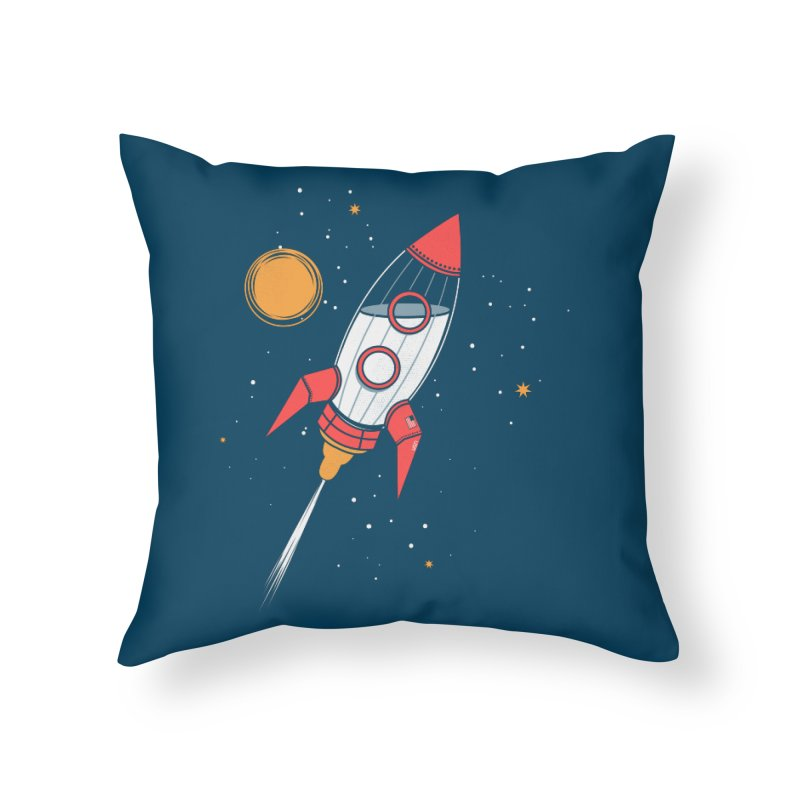 Bottle Rocket Home Throw Pillow by Ryder Doty Shop
