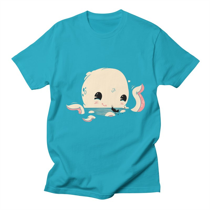 Adorable Octopus Battle Men's T-Shirt by Ryder Doty Shop