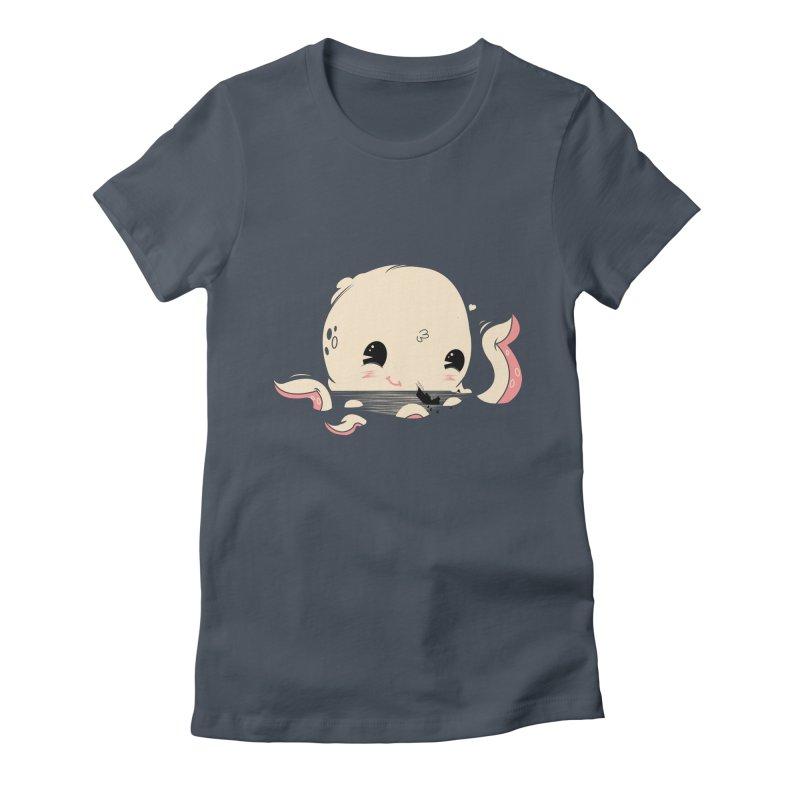 Adorable Octopus Battle Women's T-Shirt by Ryder Doty Shop