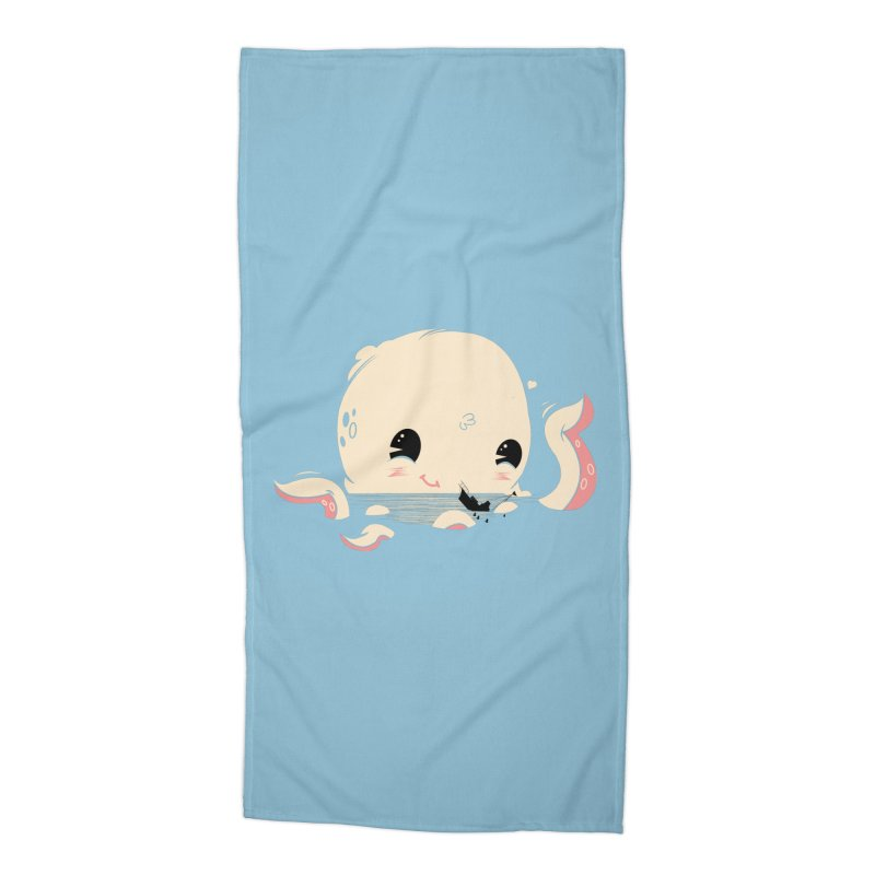 Adorable Octopus Battle Accessories Beach Towel by Ryder Doty Shop