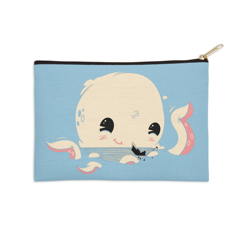 Adorable Octopus Battle Accessories Zip Pouch by Ryder Doty Shop