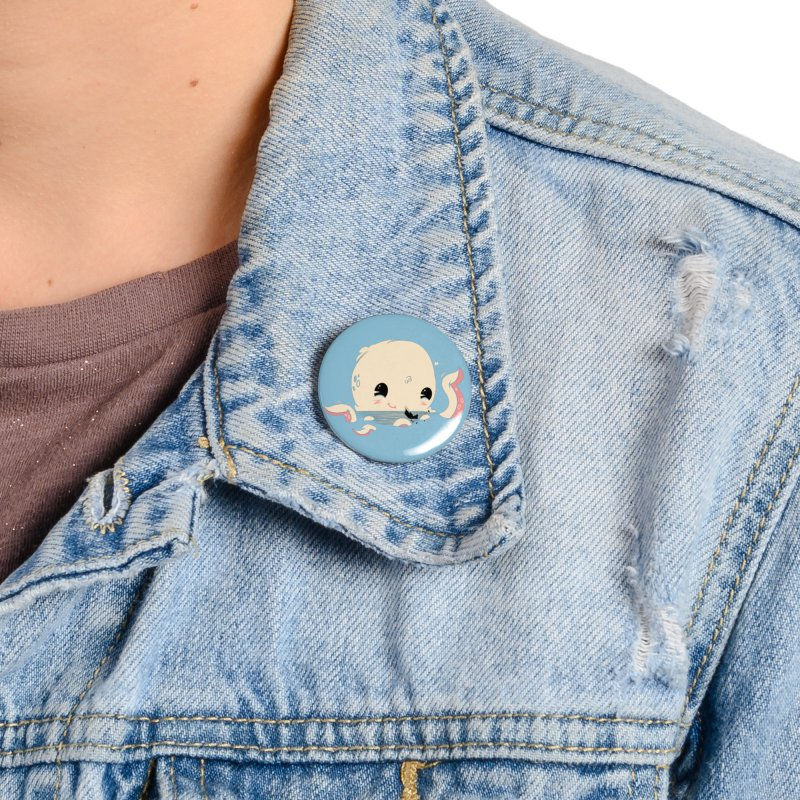 Adorable Octopus Battle Accessories Button by Ryder Doty Shop