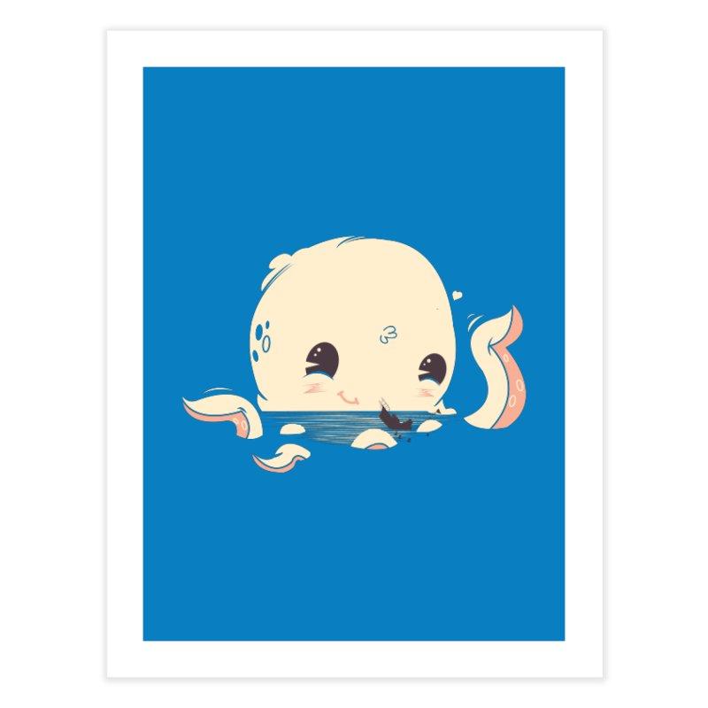 Adorable Octopus Battle Home Fine Art Print by Ryder Doty Design Shop
