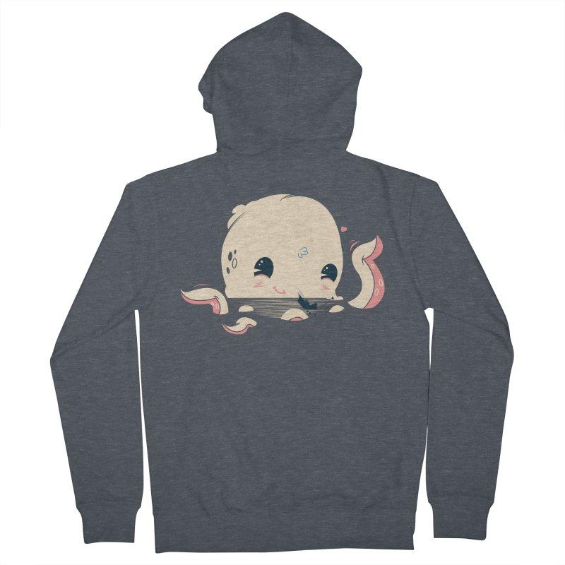 Adorable Octopus Battle Women's Zip-Up Hoody by Ryder Doty Design Shop