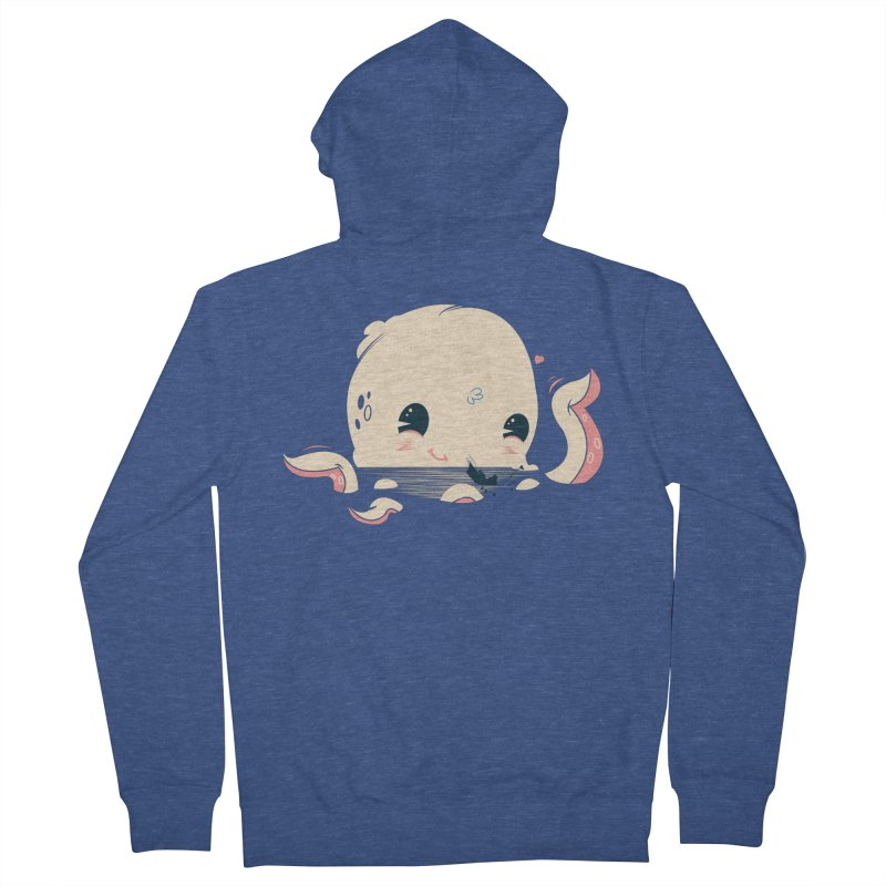 Adorable Octopus Battle Men's Zip-Up Hoody by Ryder Doty Design Shop