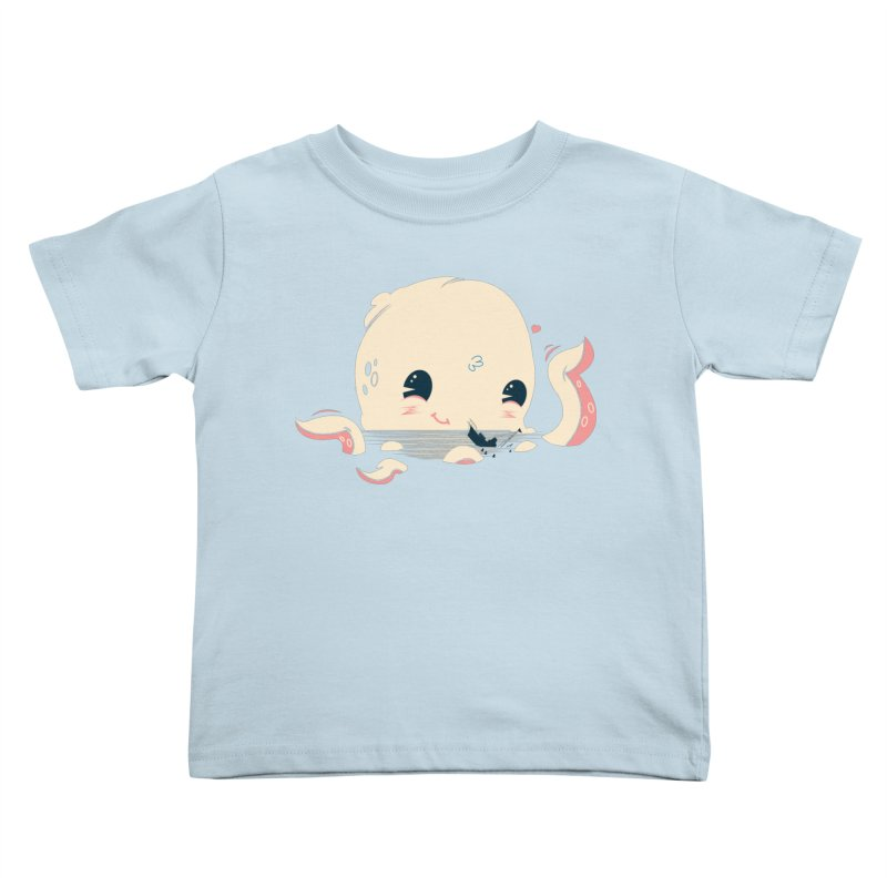 Adorable Octopus Battle Kids Toddler T-Shirt by Ryder Doty Design Shop
