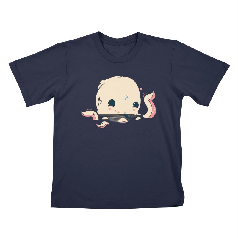 Adorable Octopus Battle Kids T-Shirt by Ryder Doty Shop