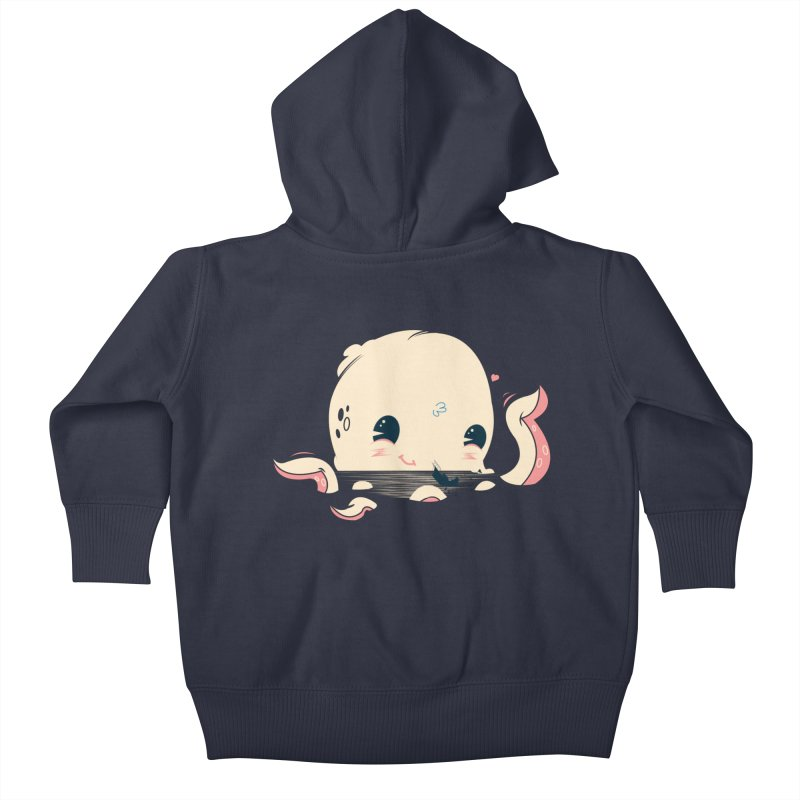 Adorable Octopus Battle Kids Baby Zip-Up Hoody by Ryder Doty Shop