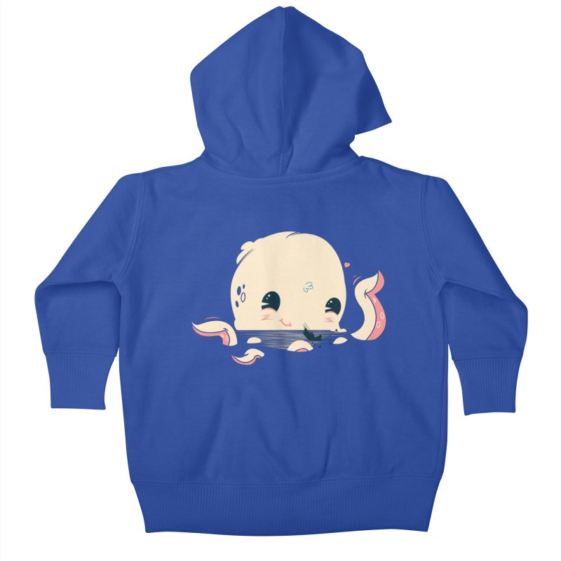 Adorable Octopus Battle Kids Baby Zip-Up Hoody by Ryder Doty Design Shop