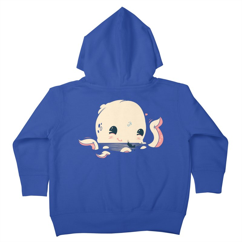 Adorable Octopus Battle Kids Toddler Zip-Up Hoody by Ryder Doty Design Shop