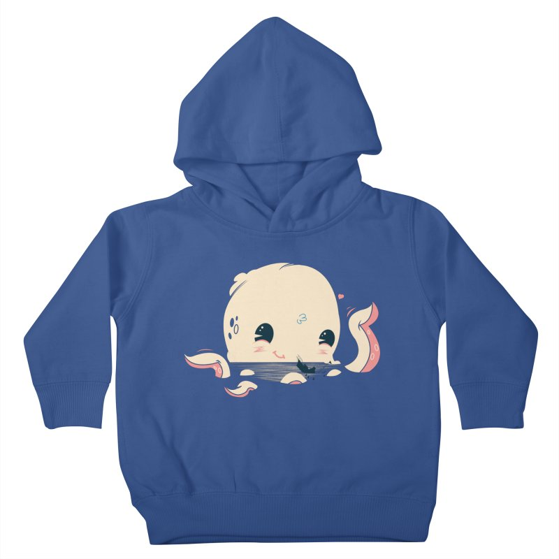 Adorable Octopus Battle Kids Toddler Pullover Hoody by Ryder Doty Design Shop