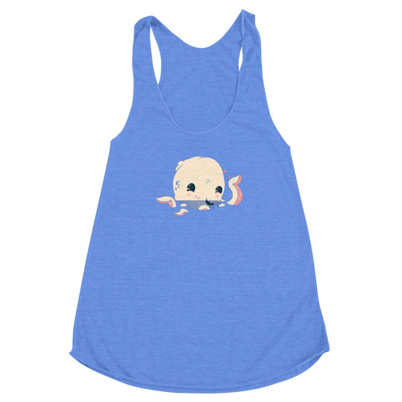 Adorable Octopus Battle Women's Racerback Triblend Tank by Ryder Doty Design Shop
