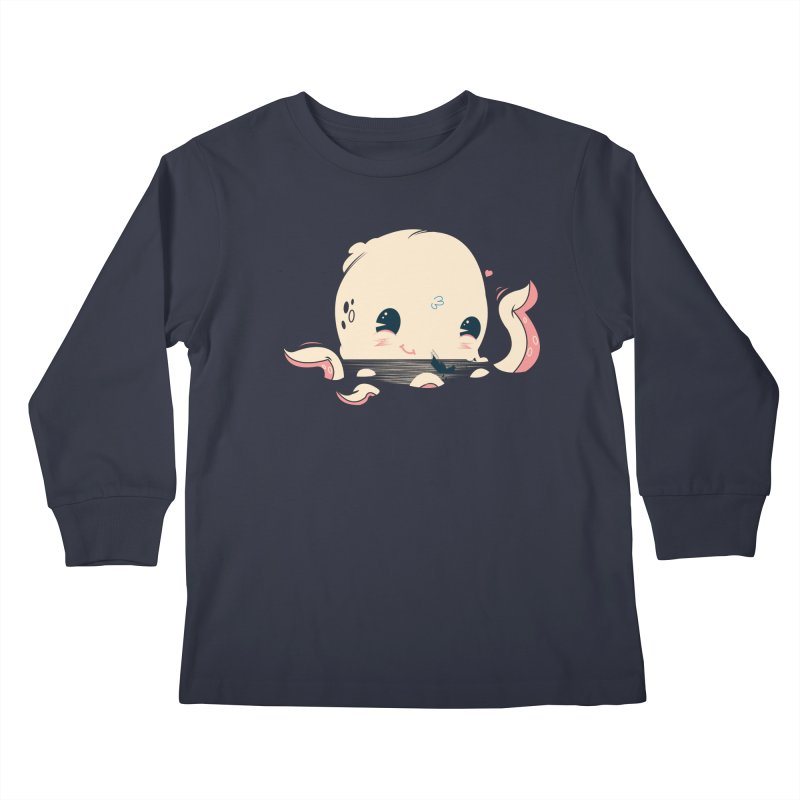 Adorable Octopus Battle Kids Longsleeve T-Shirt by Ryder Doty Design Shop