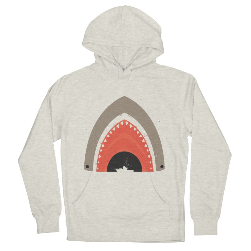 Great White Bite Women's Pullover Hoody by Ryder Doty Design Shop