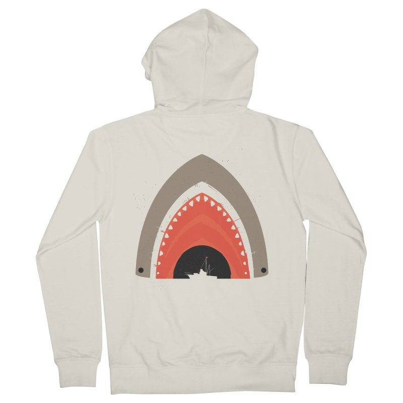 Great White Bite Men's Zip-Up Hoody by Ryder Doty Design Shop