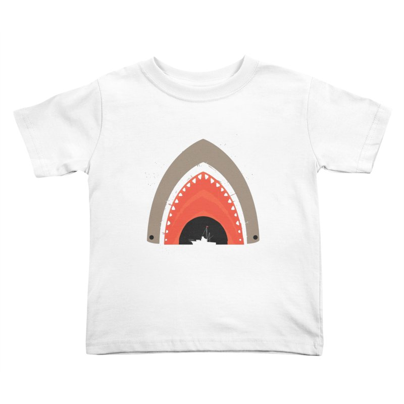 Great White Bite Kids Toddler T-Shirt by Ryder Doty Design Shop