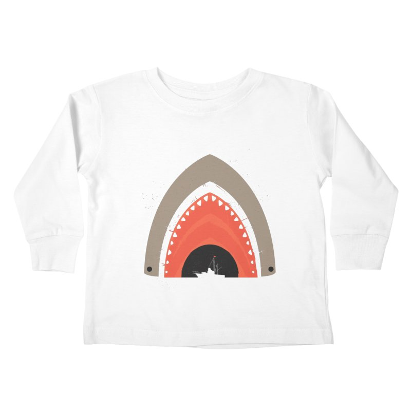Great White Bite Kids Toddler Longsleeve T-Shirt by Ryder Doty Shop