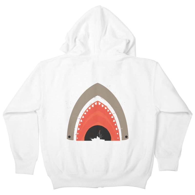 Great White Bite Kids Zip-Up Hoody by Ryder Doty Shop