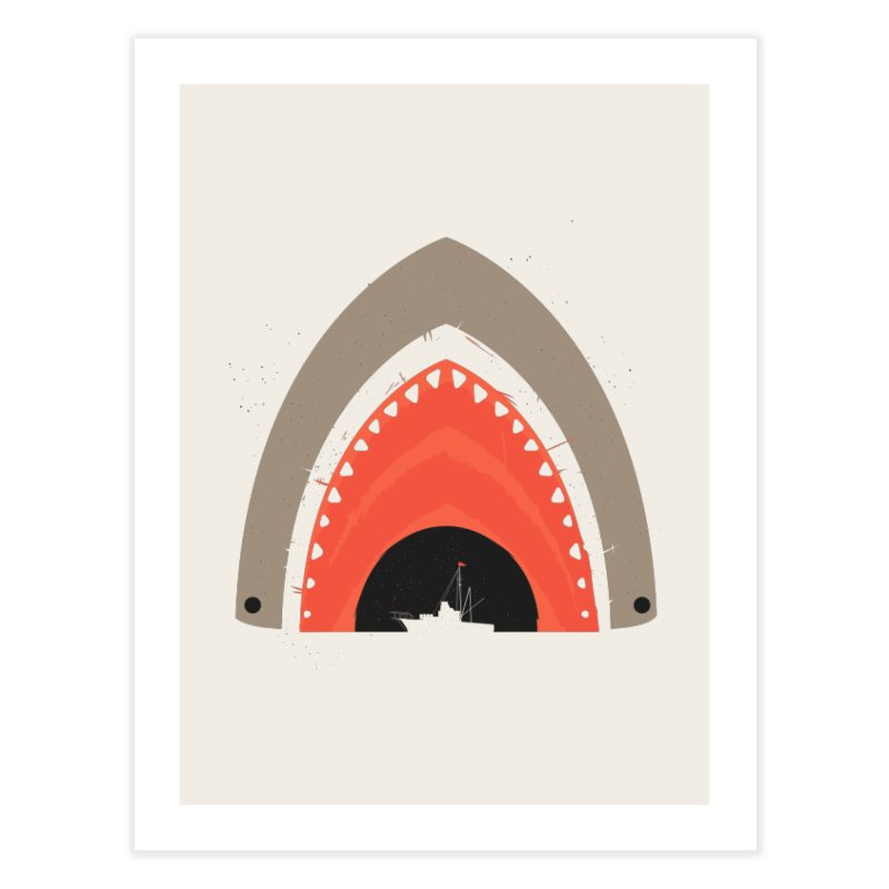 Great White Bite Home Fine Art Print by Ryder Doty Shop