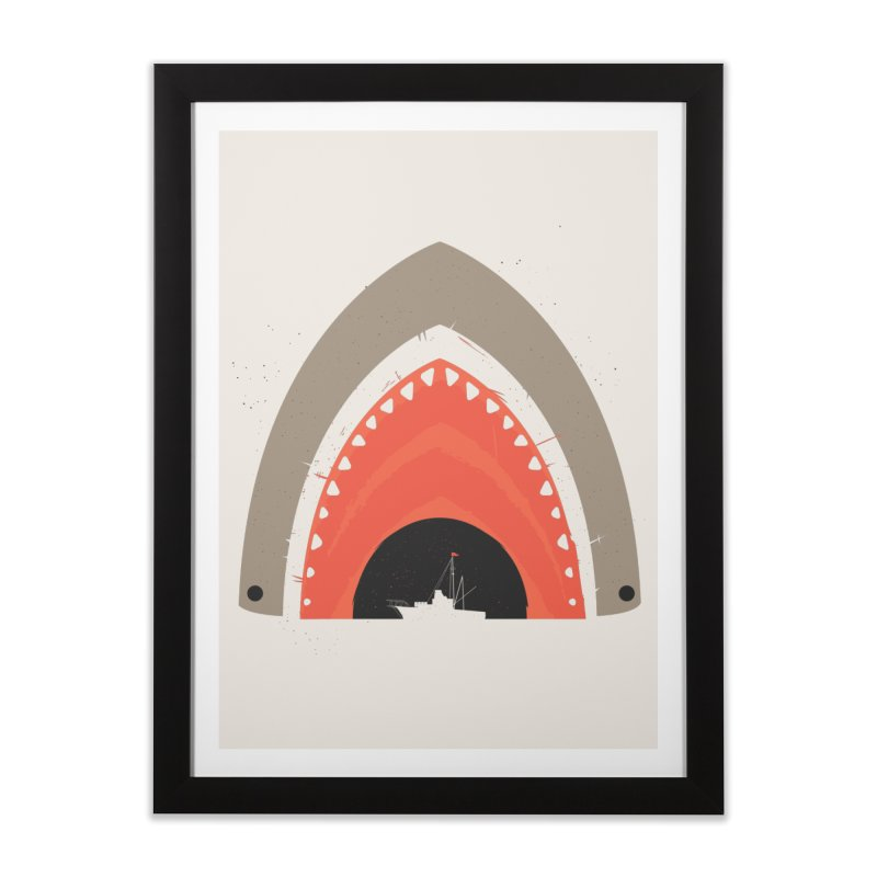 Great White Bite Home Framed Fine Art Print by Ryder Doty Shop