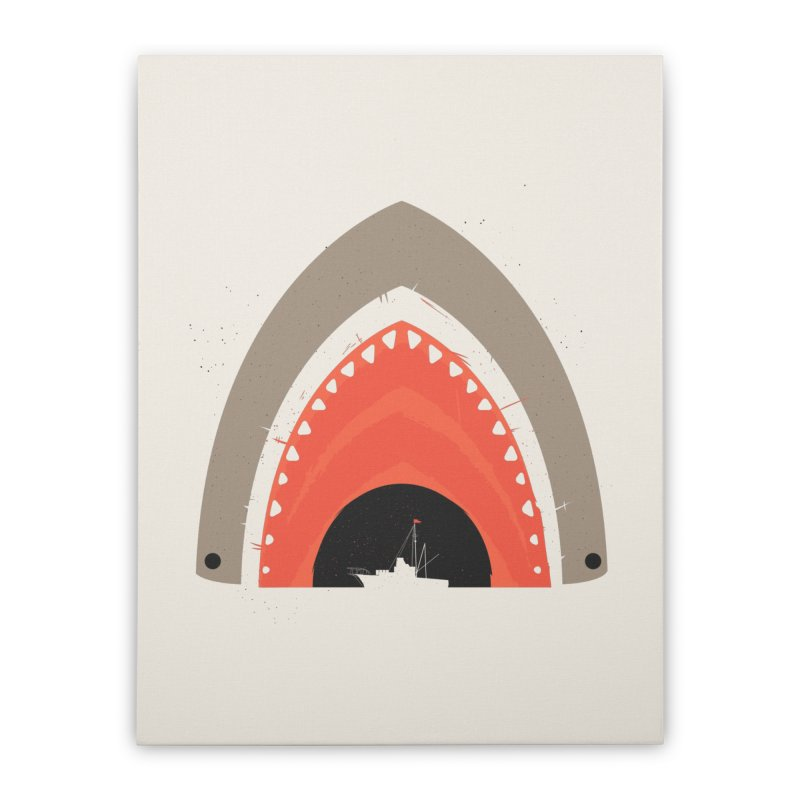 Great White Bite Home Stretched Canvas by Ryder Doty Shop