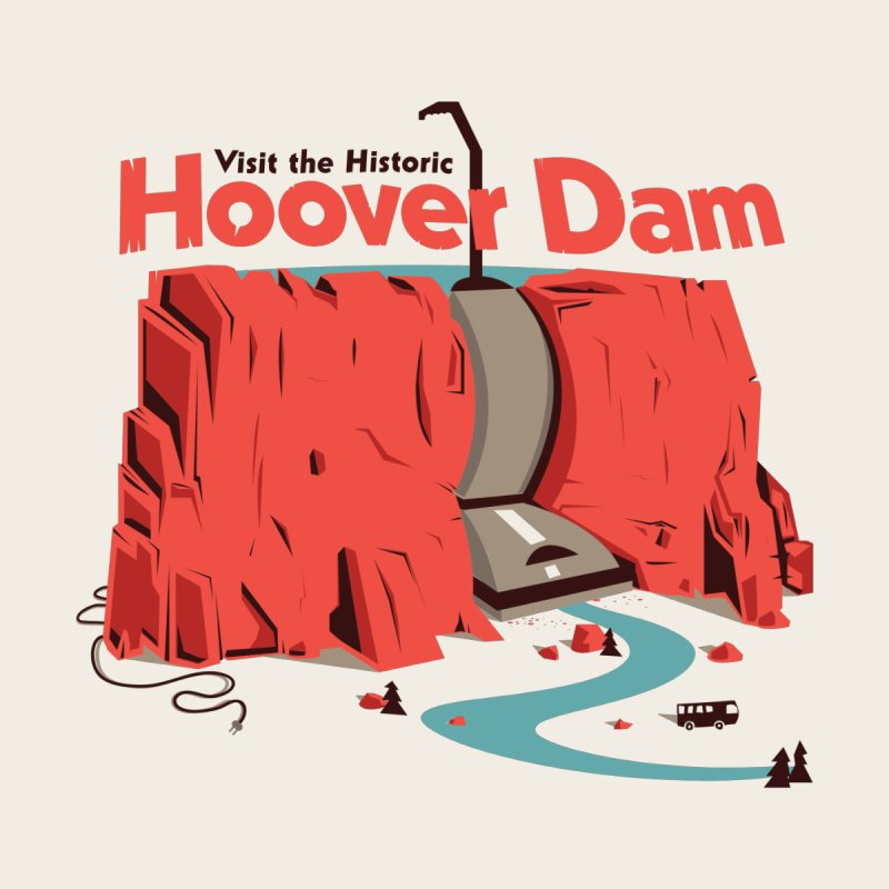 The Hoover Dam Men's T-Shirt by Ryder Doty Shop