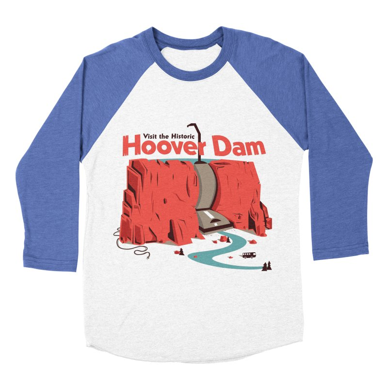 The Hoover Dam Men's Baseball Triblend Longsleeve T-Shirt by Ryder Doty Shop