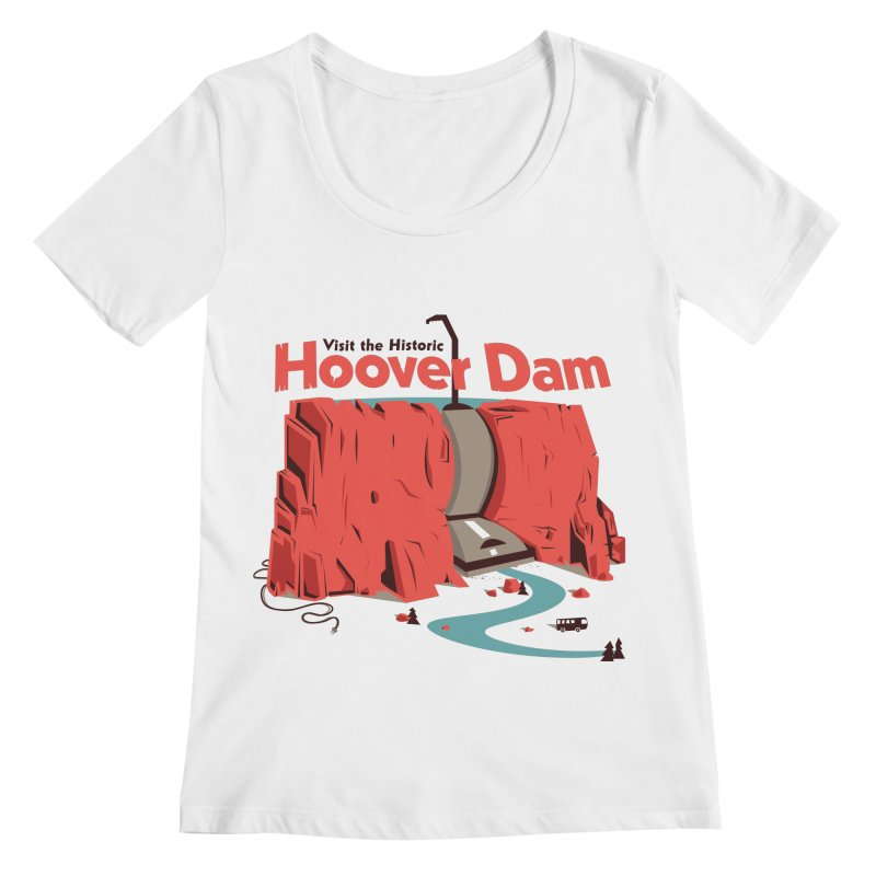 The Hoover Dam Women's Regular Scoop Neck by Ryder Doty Shop