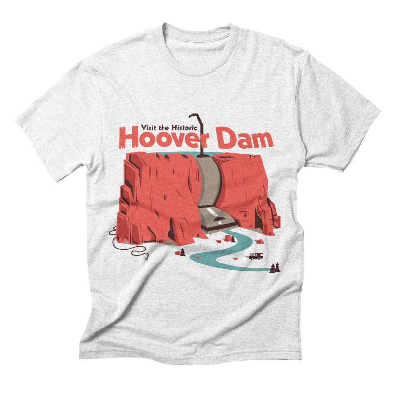 The Hoover Dam Men's Triblend T-shirt by Ryder Doty Design Shop