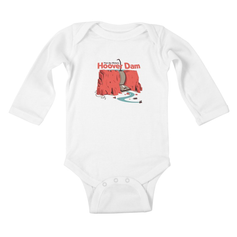 The Hoover Dam Kids Baby Longsleeve Bodysuit by Ryder Doty Shop