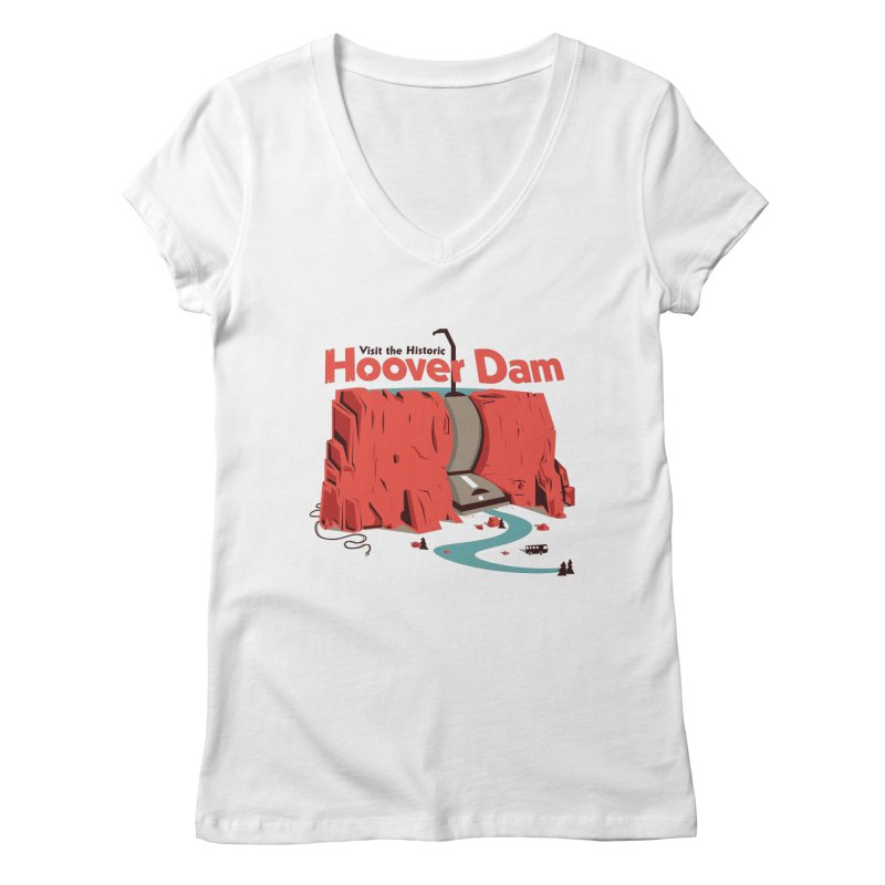 The Hoover Dam Women's V-Neck by Ryder Doty Shop