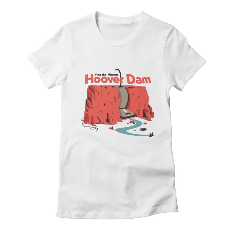 The Hoover Dam Women's Fitted T-Shirt by Ryder Doty Shop