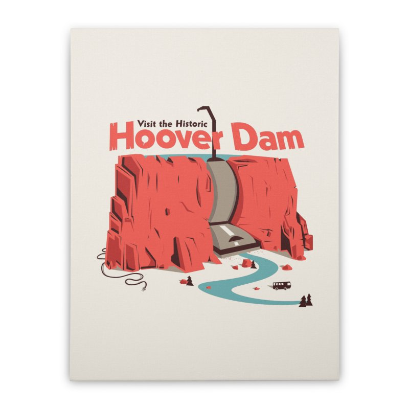 The Hoover Dam Home Stretched Canvas by Ryder Doty Shop