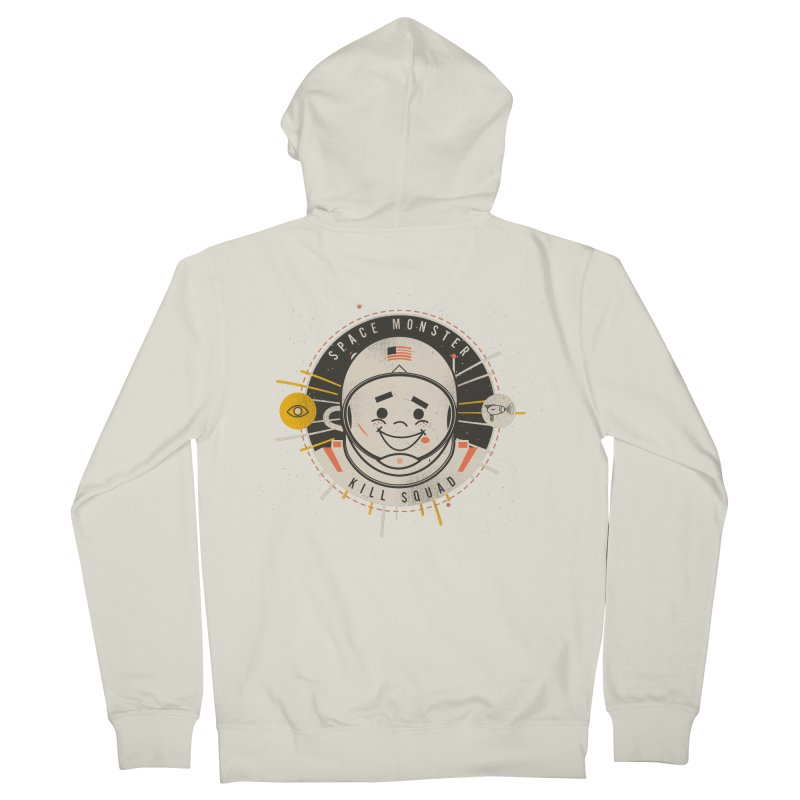 Space Monster Kill Squad Men's French Terry Zip-Up Hoody by Ryder Doty Shop