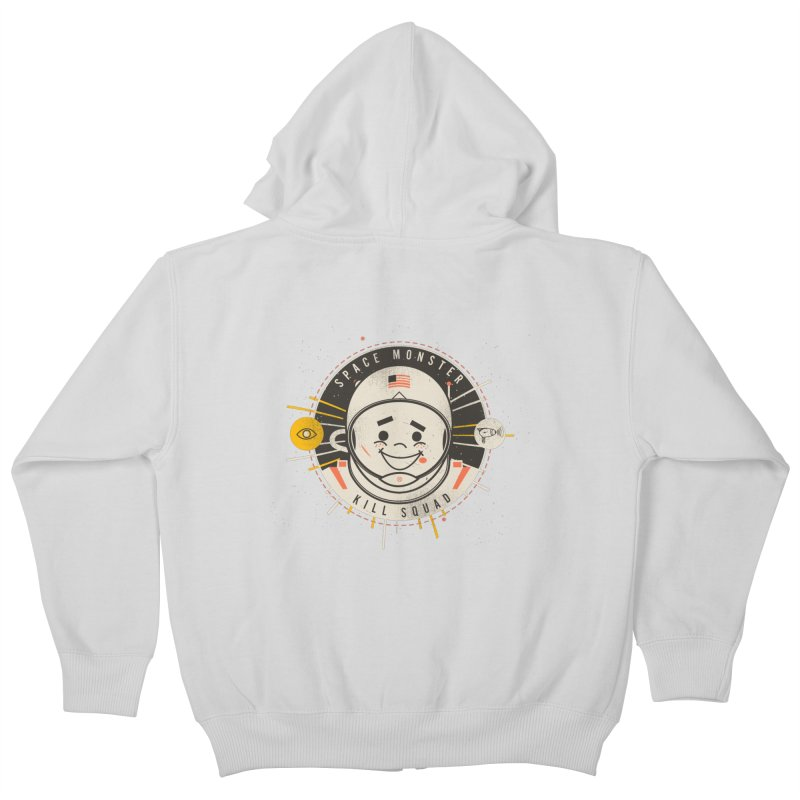 Space Monster Kill Squad Kids Zip-Up Hoody by Ryder Doty Shop