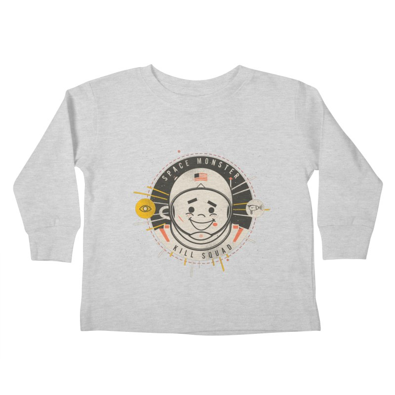 Space Monster Kill Squad Kids Toddler Longsleeve T-Shirt by Ryder Doty Shop