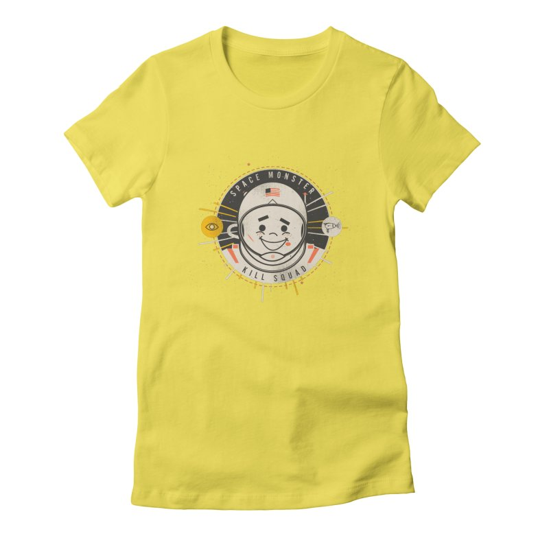 Space Monster Kill Squad Women's Fitted T-Shirt by Ryder Doty Design Shop
