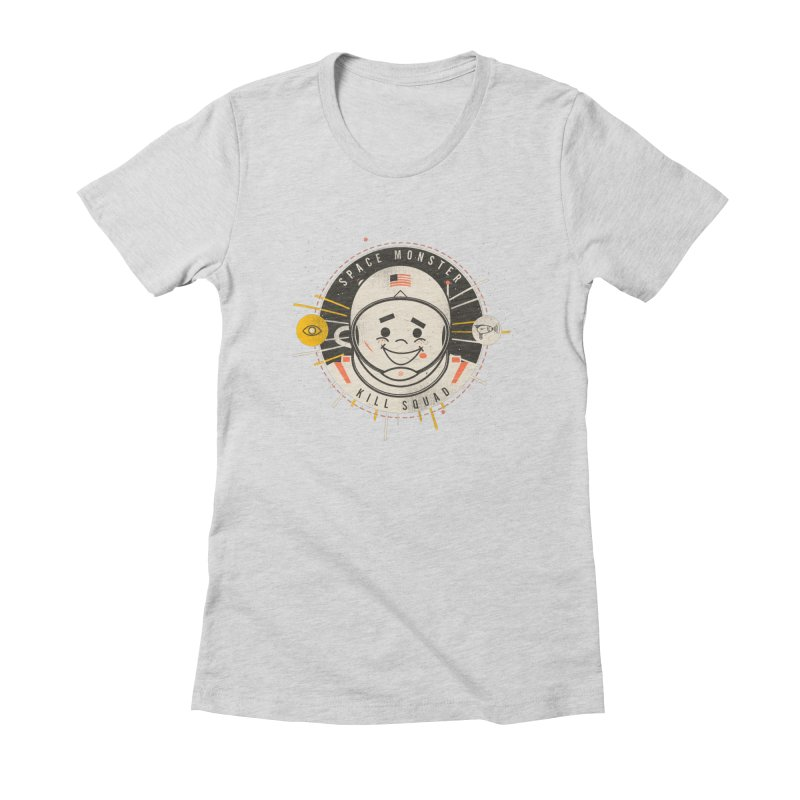 Space Monster Kill Squad Women's Fitted T-Shirt by Ryder Doty Shop