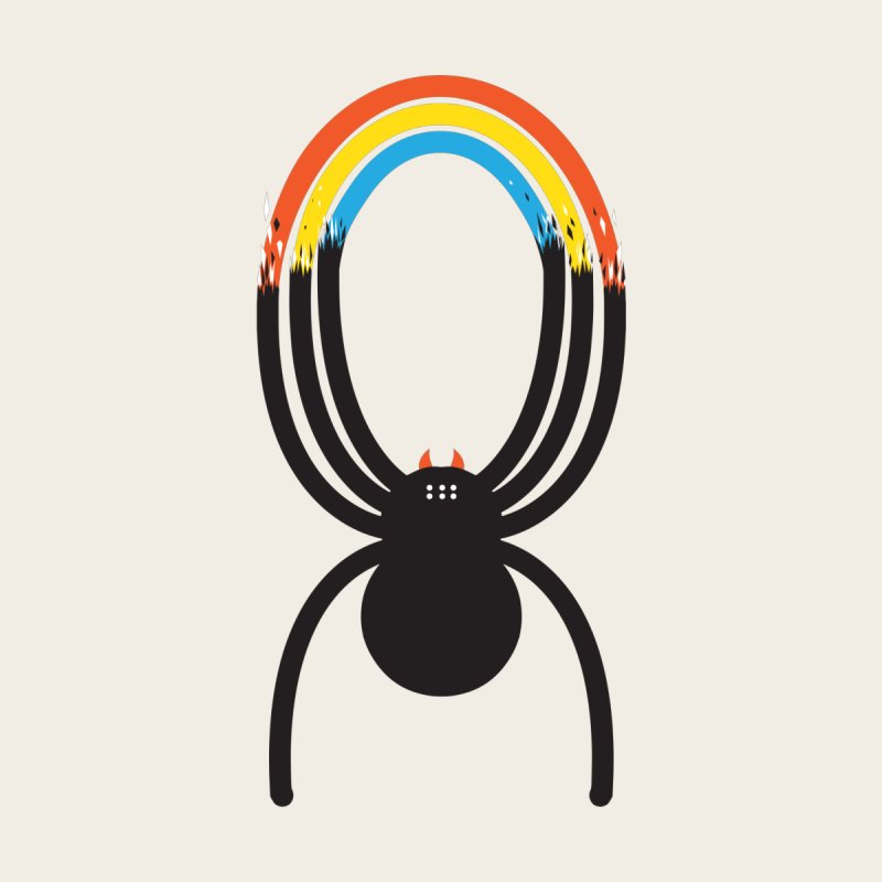Spiders Are Rainbows None  by Ryder Doty Shop