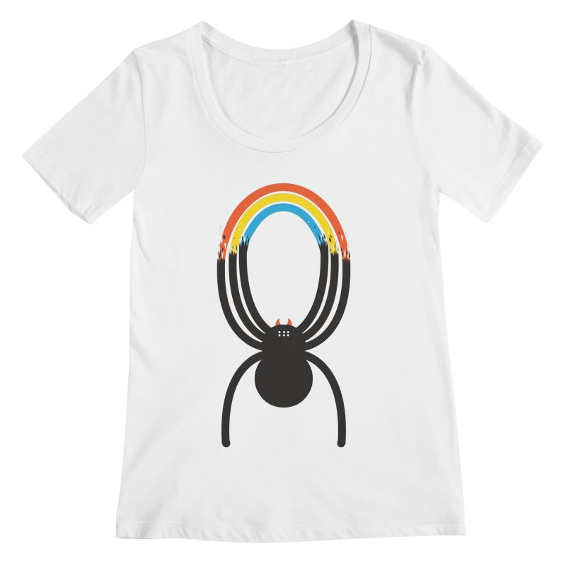 Spiders Are Rainbows Women's Scoopneck by Ryder Doty Shop