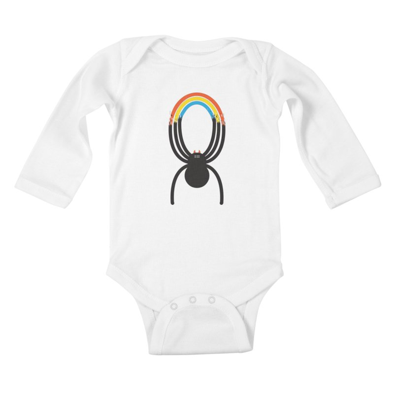 Spiders Are Rainbows Kids Baby Longsleeve Bodysuit by Ryder Doty Shop