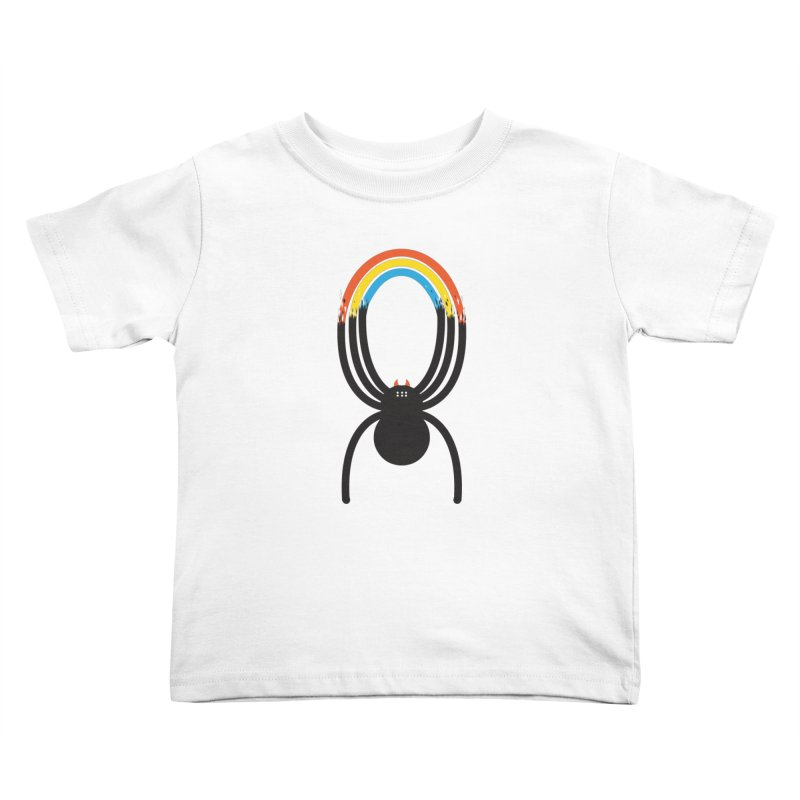 Spiders Are Rainbows Kids Toddler T-Shirt by Ryder Doty Design Shop